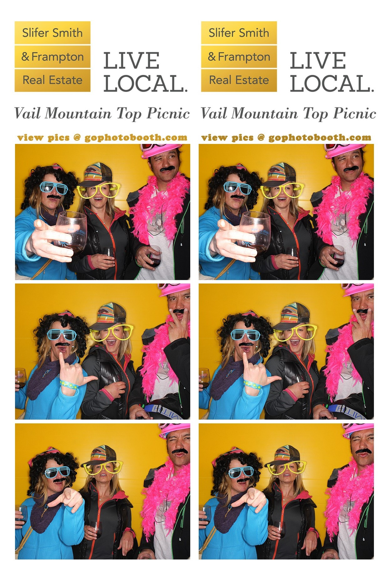 Taste of Vail Photo booth by Slifer, Smith & Frampton