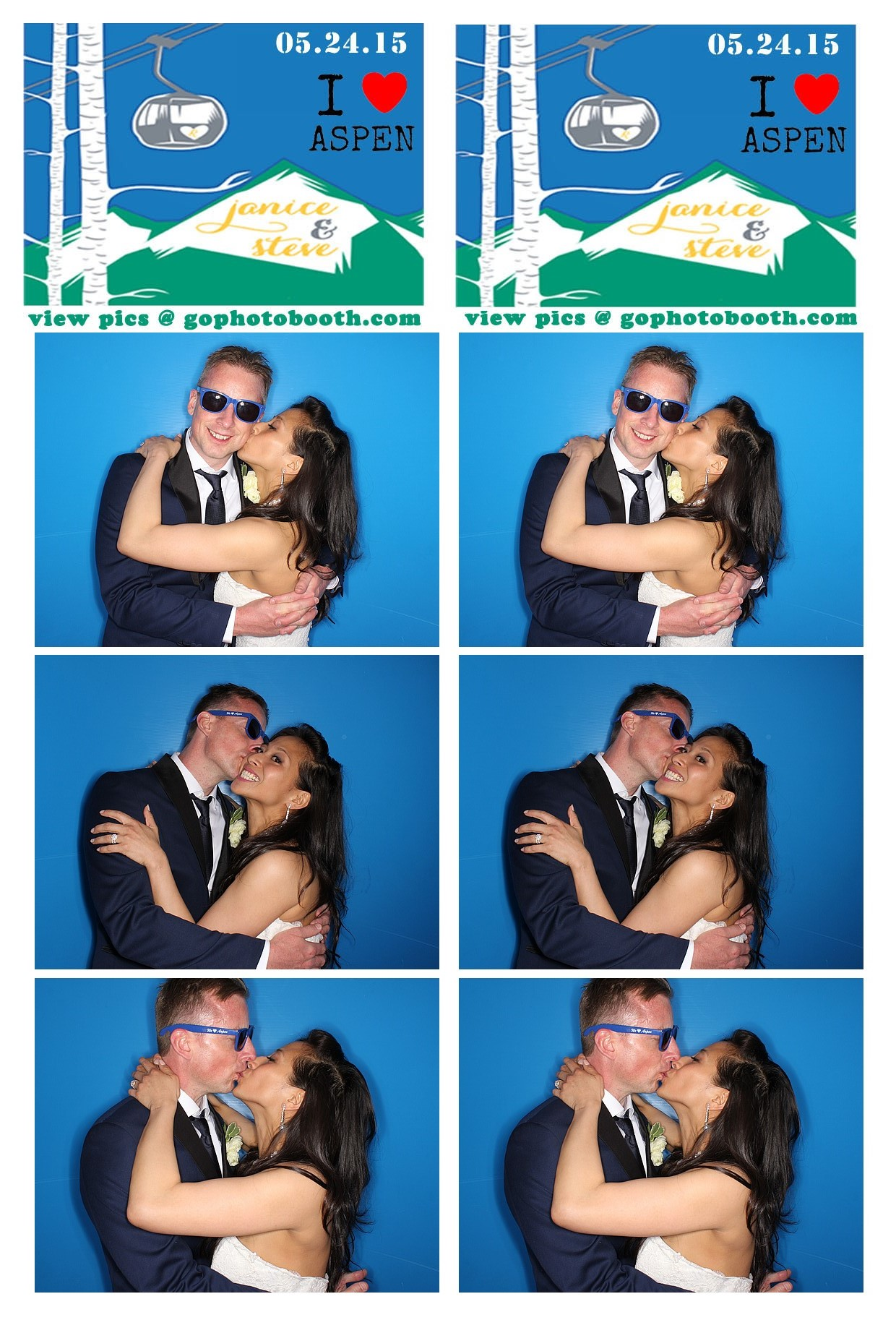 Janice and Steve's Aspen Photo Booth 5/24/15