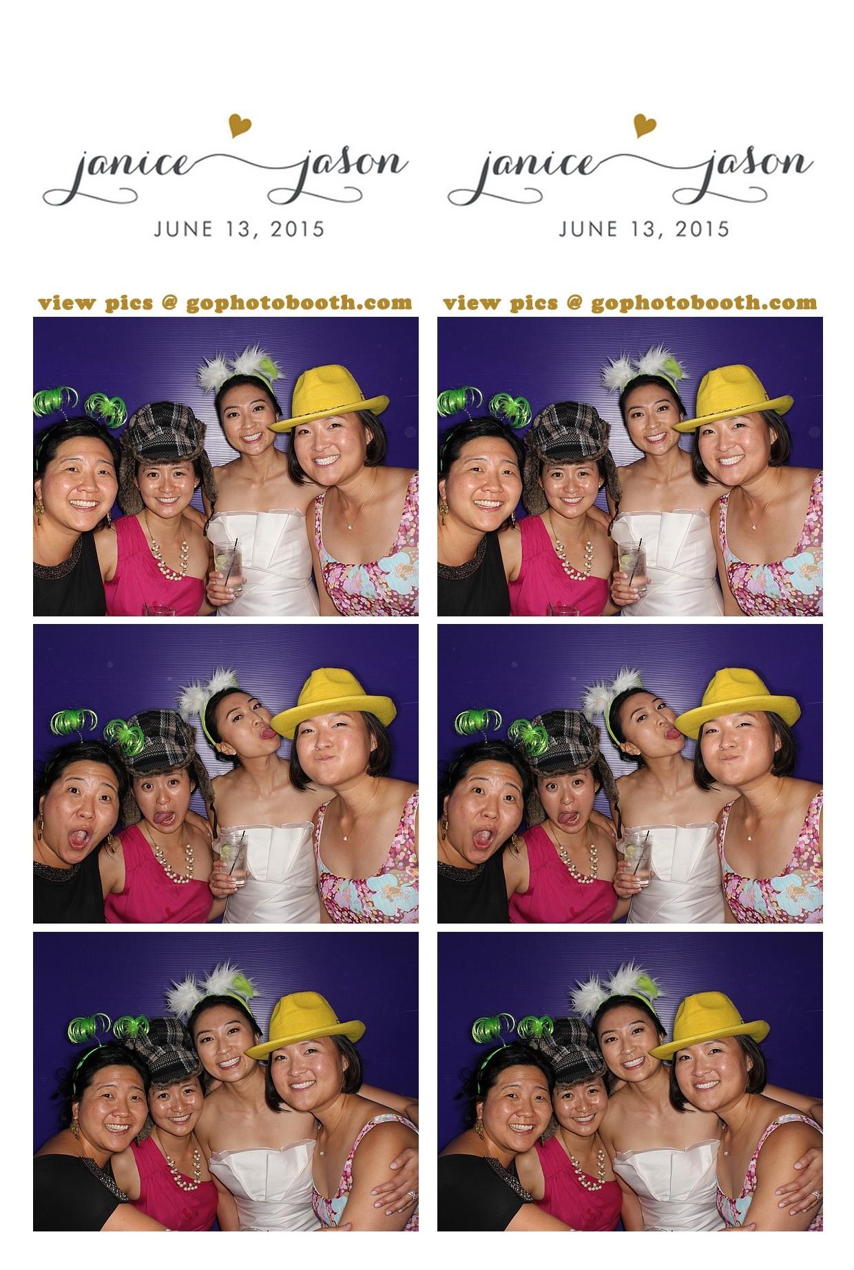Janice & Jason's Wedding photo booth 6/13/15