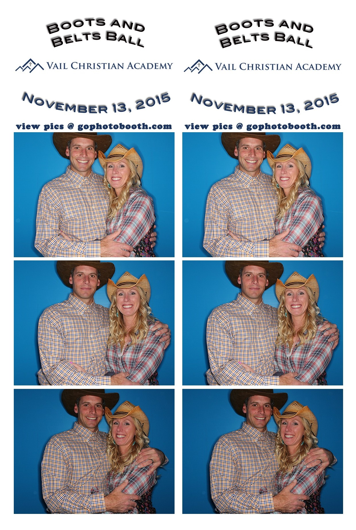 Vail Christian Academy Fundraiser Photo Booth 11/13/15