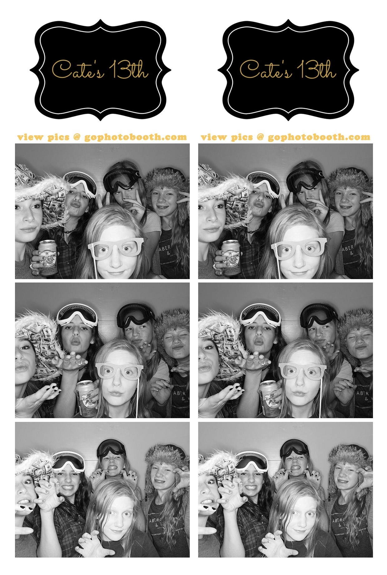 Cate's 13th Birthday Party Photo Booth Aspen 11/14/15