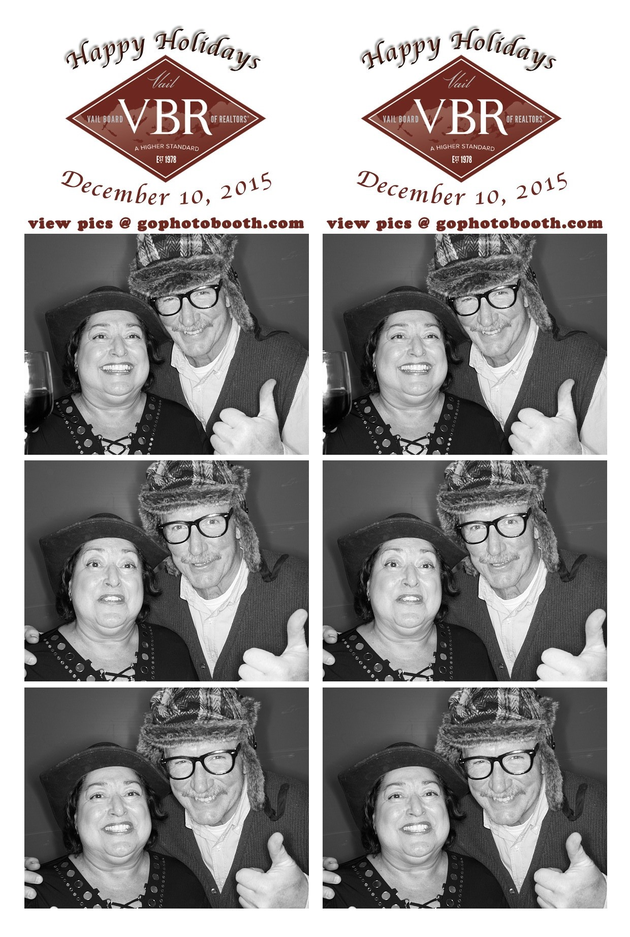 VBR holiday party photo booth 12/10/15
