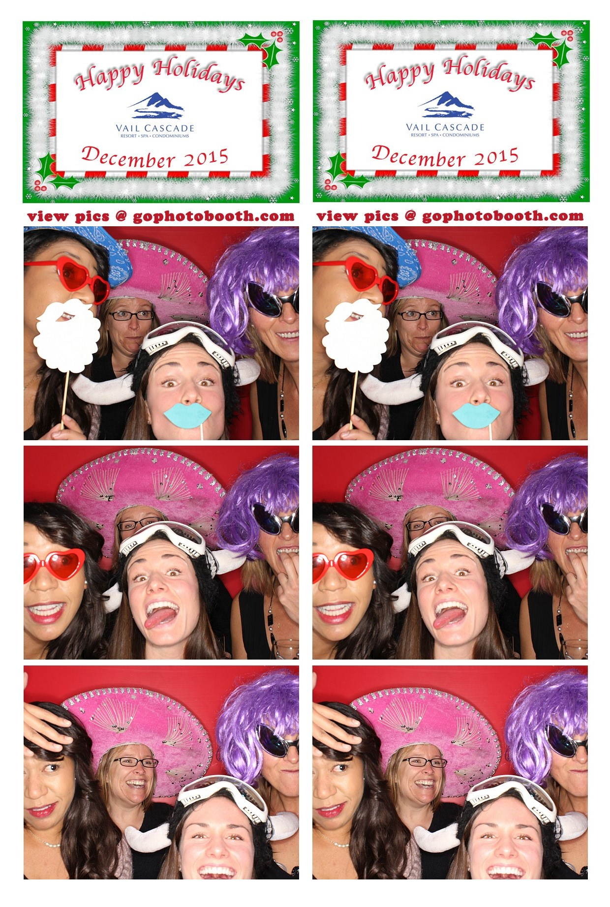 Cascade Resort Vail Photo Booth 12/15/15