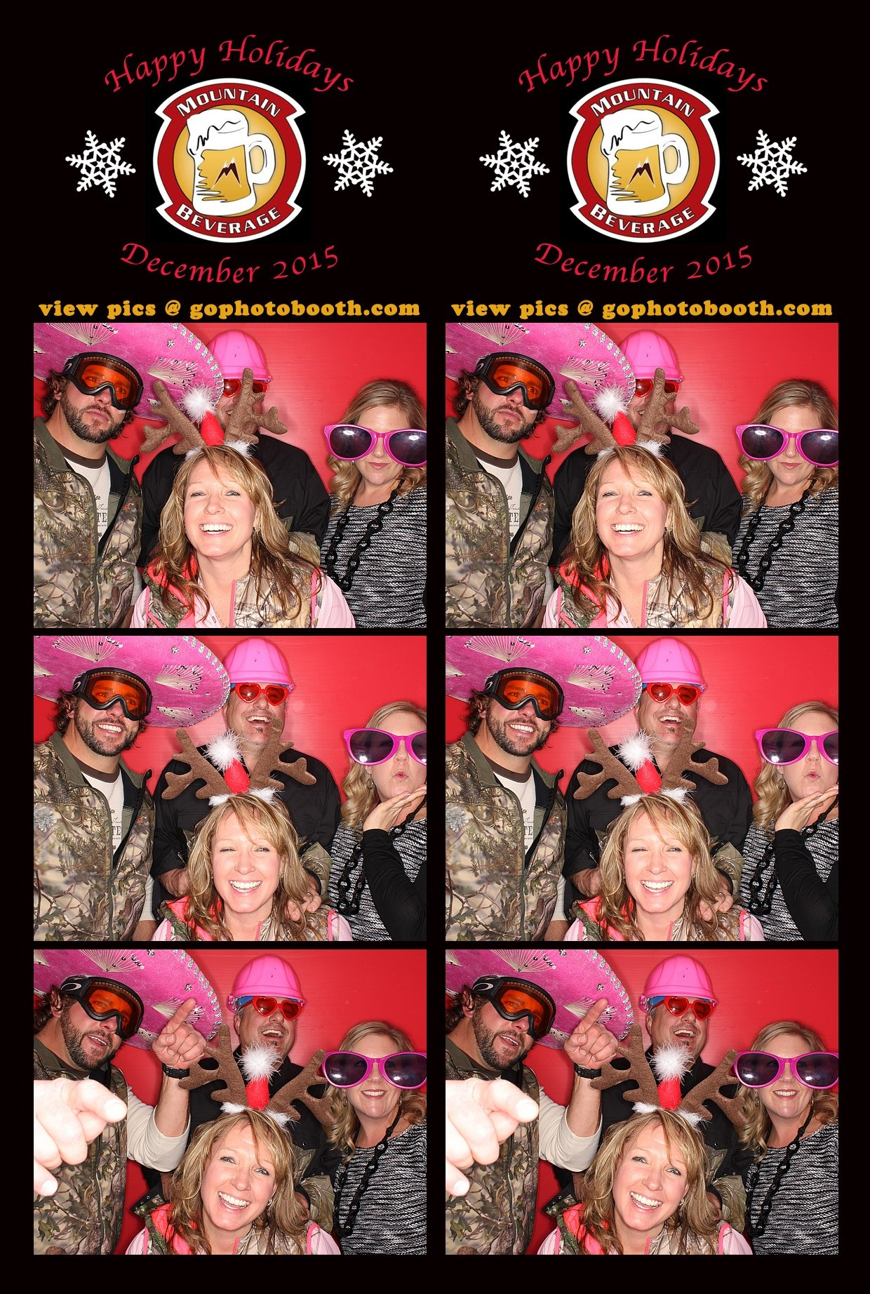Mt. Beverage Holiday Party Photo Booth 12/19/15