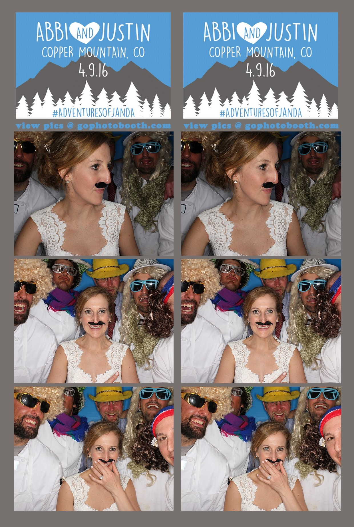 Abbi & Justin's Wedding photo booth 04/09/16