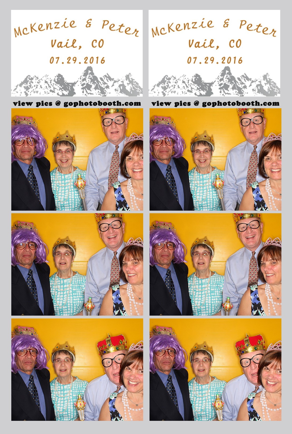 McKenzie & Peter's photo booth Donovan Vail 07/29/16