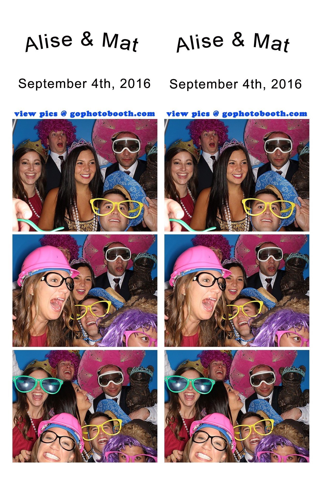 Alise & Mat's Vail Wedding photo booth 09/04/16